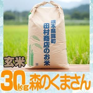 29年産 熊本県産★森のくまさん玄米30kg/精米無料...