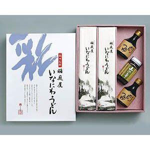 稲庭うどん なめこ瓶詰め めんつゆ付き10〜12人前 贈答用 紙化粧箱入り|inaniwaya