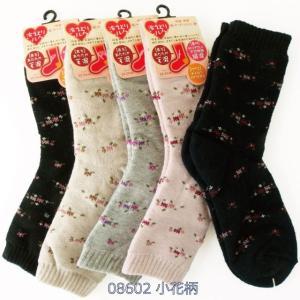 靴下 レディース 冷えとり毛混 裏シルク二重編みソックス 口ゴムゆったり クルーソックス 柄別色おまかせ4足セット|inasaka|19