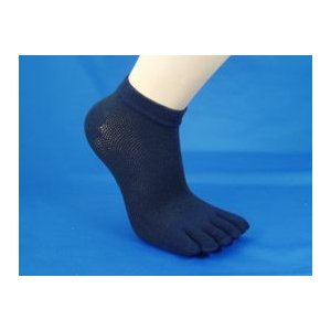 靴下 レディース 5本指 色違い3足セット  無地メッシュスニーカーソックス 爽やかメッシュ inasaka