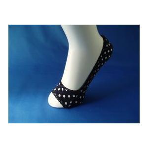 靴下 レディース 婦人 オープントゥー水玉柄 パンプスイン3足セット 低反発クッション カカトスベリ止め付 inasaka