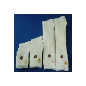 靴下 日本製 子供 リブワッペン刺繍ソックス ハイソックス 3足組S,M,L,LLの4サイズ展開|inasaka
