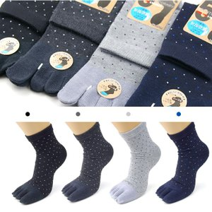 靴下 メンズ 5本指 指先シルク混クルー丈ソックス 3足セットビジネス 絹 シルク  ソックス 5本指 父の日|inasaka|09