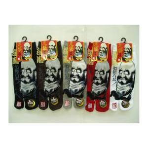 靴下 メンズ 和柄 色おまかせ3足セット 達磨 タビ スニーカーソックス 伝統の美 日本を履く|inasaka