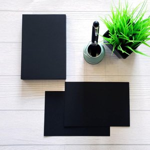 黒いカード(45枚程度入 1セット)|メッセージカード・コースター・ペーパークラフト等に|inasatukurashi
