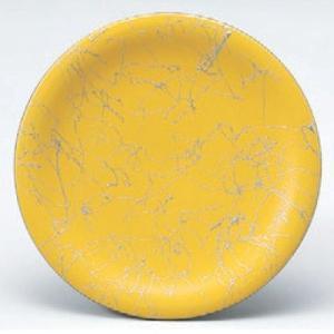 回転寿司皿 寿司皿イエロー銀乱糸  高さ21 直径:150 (業務用食器)(グループI)