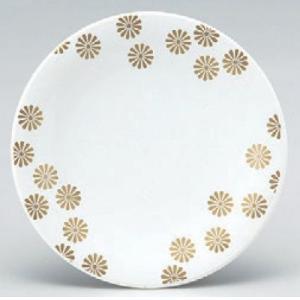 回転寿司皿 寿司皿白小菊  高さ21 直径:150 (業務用食器)(グループI)