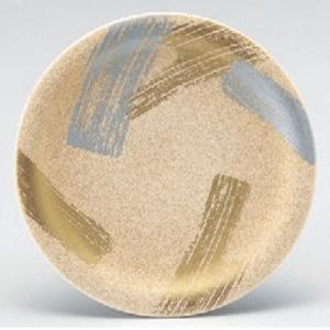 回転寿司皿 寿司皿パール二色刷毛目  高さ21 直径:150 (業務用食器)(グループI)