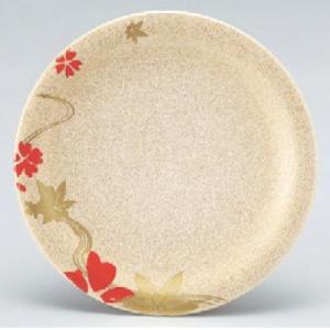 回転寿司皿 寿司皿パール花流水  高さ21 直径:150 (業務用食器)(グループI)