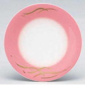 回転寿司皿 寿司皿ピンクぼかし金波  高さ21 直径:150 (業務用食器)(グループI)