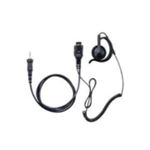 イヤホンマイク インカム スタンダード STANDARD SSM-59CCA 小型タイピンマイク&イヤホン(耳かけ式大型オープンエアータイプ カールコード)|incom-musenki