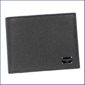 ドルチェアンドガッバーナ BP0457 メンズ二つ折り小銭  Dolce and Gabbana  A1080 ブラック|increase2