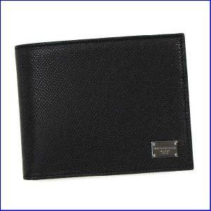 ドルチェアンドガッバーナ BP0457 メンズ二つ折り小銭  Dolce and Gabbana  A1001 ブラック|increase2