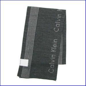 カルバンクライン マフラー 77047 ダークグレー CALVIN KLEIN  MUFFLER SCARF FLANNEL/CHARCOAL|increase2