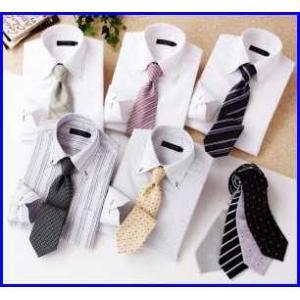 デザイナーズセレクト 1週間パーフェクトコーディネート カラーステッチ ドゥエボットーニ シャツ ホワイト Yシャツ5枚・ネクタイ9本の14点セット |increase2