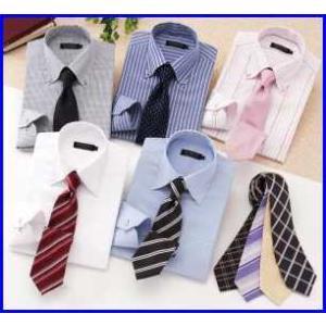 デザイナーズセレクト 1週間パーフェクトコーディネート カラーステッチ ドゥエボットーニ シャツ カラー Yシャツ5枚・ネクタイ9本の14点セット |increase2