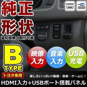 品番U07 NCP80系  シエンタ  HDMI入力+USB電源・充電ポート スイッチホールパネル 最大2.1A トヨタB inex