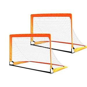 Voodans サッカーゴール サッカーネット 折りたたみ 2個セット 室外 室内 固定 ポップアッ...