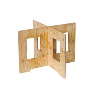 (木芸社)コンパネ作業台(針葉樹合板製) X脚 組立て式 ペケ台・簡易テーブル (H600W900m...