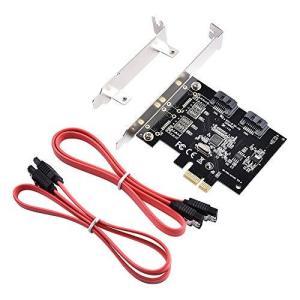 ELUTENG SATA 増設 ボード 6Gbps 超高速 PCI-E to SATA 3.0 2ポ...