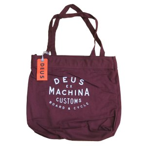 Deus ex Machina デウスエクスマキナ NEW CLASSICS TOTE トートバッグ MAROON DMF77777|infinisportsnetshop