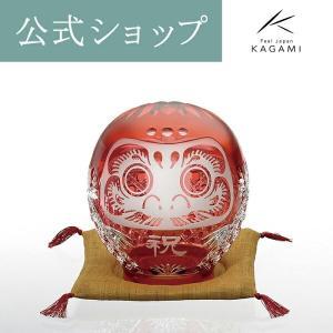 江戸切子 記念品 周年記念 お祝い 御礼 竣工記念 だるま 大サイズ 達磨 縁起物 置物 ギフト プ...