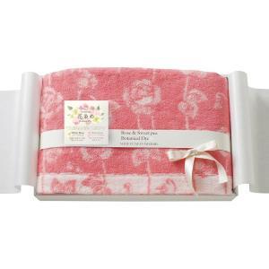 今治花染め ローズ&スイートピー バスタオル RS-5002 PI|infomart
