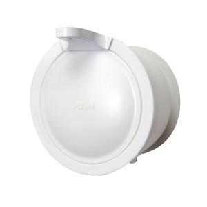 三栄水栓 SANEI Mog ウォールソープディスペンサー ホワイト PW1710-W4|infomart