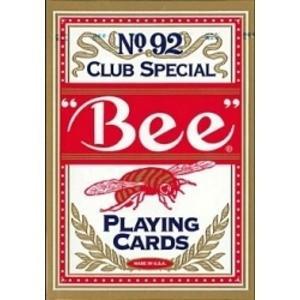 Bee ビー [ポーカーサイズ] No.92 Club Special 〔レッド ・ ブルー〕 infomart