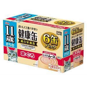 (まとめ)アイシア 11歳からの健康缶 まぐろ40g×6P 〔猫用・フード〕〔ペット用品〕〔×12セット〕|infomart