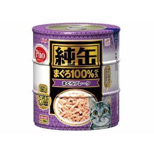 (まとめ)アイシア 純缶 まぐろフレーク125g×3P 〔猫用・フード〕〔ペット用品〕〔×18セット〕|infomart