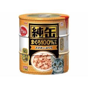 (まとめ)アイシア 純缶 ささみ入りまぐろ125g×3P 〔猫用・フード〕〔ペット用品〕〔×18セット〕|infomart