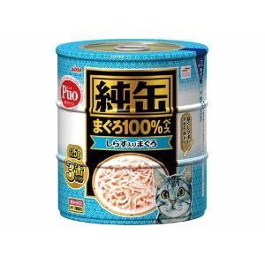 (まとめ)アイシア 純缶 しらす入りまぐろ125g×3P 〔猫用・フード〕〔ペット用品〕〔×18セット〕|infomart
