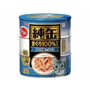 (まとめ)アイシア 純缶 かつお節入りまぐろ125g×3P 〔猫用・フード〕〔ペット用品〕〔×18セット〕|infomart