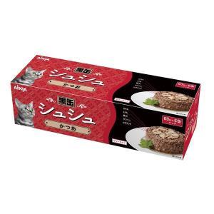 (まとめ)アイシア 黒缶シュシュ6P かつお 60g×6 〔猫用・フード〕〔ペット用品〕〔×12セット〕|infomart