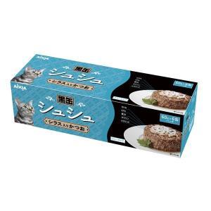 (まとめ)アイシア 黒缶シュシュ6P シラス入かつお 60g×6 〔猫用・フード〕〔ペット用品〕〔×12セット〕|infomart