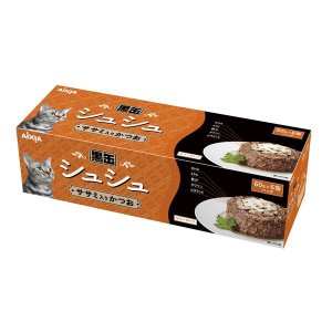 (まとめ)アイシア 黒缶シュシュ6P ササミ入かつお 60g×6 〔猫用・フード〕〔ペット用品〕〔×12セット〕|infomart