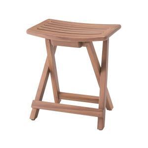 天然木フォールディングスツール(折りたたみ椅子) 幅43cm×奥行32.5cm×高さ47cm TTF-902 infomart