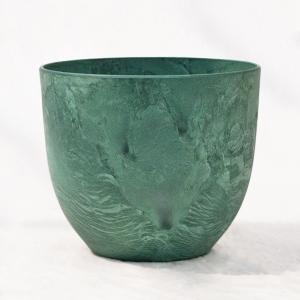 植木鉢 鉢カバー アートストーン ボーラカバー 33cm 11号 グリーン /底面給水型 穴無し infomart