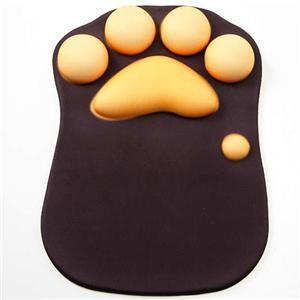 【商品名】 猫の肉球型 マウスパッド/OA用品 【20cm×27.3cm×2.3cm】 重さ340g...
