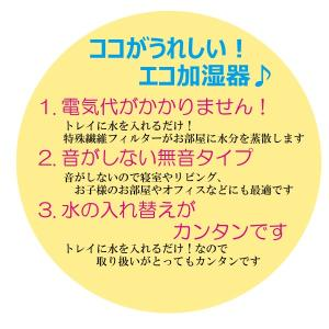 加湿器 コンパクト 日本製 電気代0円 ボトル付 無音だからうれしい お部屋のインテリアにも 寝室 リビング 子供部屋 オフィス などに 約15×5.5×高さ17cm|iniko|05