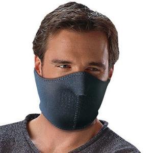 フェイスマスク(リバーシブル)洗濯可能 鼻・口の穴が息苦しさを解消! ウェットスーツ生地でガード。冬...