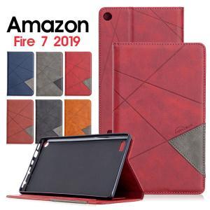 amazon Fire 7 2019 ケース タブレットケース 手帳型 fire7 第9世代 カバー カード収納 アマゾン ファイア アマゾン2019 手帳ケース amazon fire 7 2019ケース initial-k