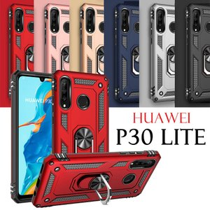 HUAWEI P30 liteケース リング付き huawei p30 lite カバー 背面保護 ...