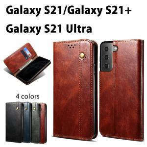 スマホケース Galaxy S21手帳型ケース Galaxy S21+ カバー シンプル ケース Galaxy S21 Ultra ケース Galaxy S21 Ultraケース手帳型 全4色 カード収納  おしゃれ|initial-k