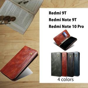スマホケース   Xiaomi Redmi Note 10 Pro手帳型ケース カバー シンプル ケースRedmi Note 9T ケース Redmi Note 10 Proケース手帳型 全4色 カード収納|initial-k