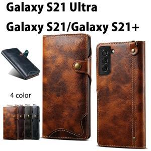 スマホケース  Galaxy S21手帳型ケース Galaxy S21+ カバー シンプル ケース Galaxy S21 Ultra ケース Galaxy S21 Ultraケース手帳型 全4色 カード収納|initial-k