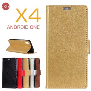 Y!mobile Android One X4ケース カバー おしゃれ androidone x4 保護 ケース Android One X4カバー シンプル 横開き 二つ折り android one x4 手帳型ケース|initial-k