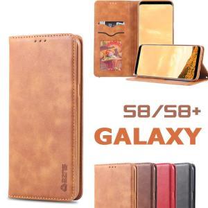 Galaxy S8ケース 手帳 レザー ビジネス風 Galaxy S8+ケース カード収納 スタンド機能 SC-02J ケース SCV36 ケース手帳ケース 手帳型 ギャラクシー|initial-k