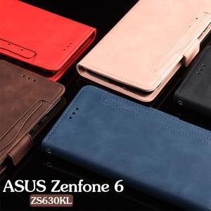 ASUSケース 手帳型 レザー Zenfone 6ケース おしゃれ 二つ折り zs630klケース カード収納 保護ケース 薄型 軽量 asus zenfone 6ケース 磁石 マグネット式ケース|initial-k